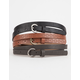 3 Pack Solid Embossed Belts