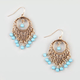 FULL TILT Round Filigree Bead Chandelier Earrings