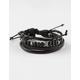 BLUE CROWN Leather Bracelet 3 Pack