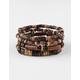 BLUE CROWN Wood Bracelet 4 Pack