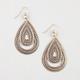 FULL TILT 2 Layer Teardrop Earrings