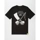 RUSTY BUTCHER Black Mens T-Shirt
