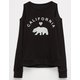 FULL TILT Cali Bear Girls Cold Shoulder Sweatshirt