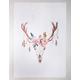 Floral Skull Tapestry