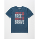 UNDER ARMOUR Land Of The Free Boys T-Shirt