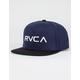 RVCA Twill III Mens Snapback Hat
