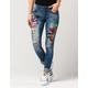 INDIGO REIN Patch Womens Ankle Skinny Jeans