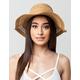 Cutout Straw Floppy Hat