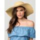 Raw Edge Straw Floppy Womens Hat