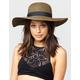 Two Tone Straw Womens Floppy Hat