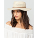 Short Trim Straw Womens Floppy Hat
