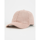 Perforated Suede Strapback Hat