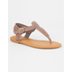 BAMBOO Woven T-Strap Womens Sandals