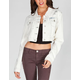 TINSELTOWN Womens Bleached Denim Jacket