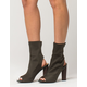 CAPE ROBBIN Peep Toe Womens Sock Boots
