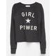 FULL TILT Girl Power Girls Crop Sweatshirt