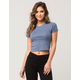 FULL TILT Essential Solid Womens Baby Tee