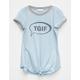 FULL TILT TGIF Girls Tie Front Ringer Top