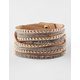 FULL TILT 4 Row Rhinestone/Stud Wrap Bracelet