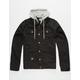 LRG Triple Black Mens Denim Jacket