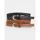2 Pack Skinny Braid Belt