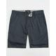 BLUE CROWN Mens Slim Stretch Chino Shorts