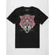 RIOT SOCIETY Ornate Wolf Mens T-Shirt