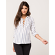 FULL TILT Stripe Lace Up Womens Shirt