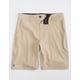 MICROS Chase Light Tan Boys Hybrid Shorts