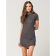 FULL TILT Ribbed Shirttail Bodycon Dress