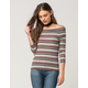 OTHERS FOLLOW Ribbed Stripe Womens Top