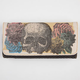 LOUNGEFLY Floral Skull Canvas Wallet