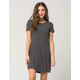 FULL TILT Striped Crew T-Shirt Dress
