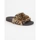 QUPID Faux Fur Womens Sandals
