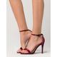 QUPID Velvet Ankle Strap Womens Heels