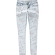 ALMOST FAMOUS Acid Wash Floral Womens Skinny Jeans