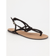 QUPID Knotted T-Strap Womens Sandals