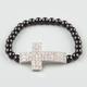 FULL TILT Rhinestone Cross Bracelet