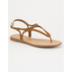 CITY CLASSIFIED T-Strap Braid Womens Sandals