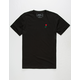 RIOT SOCIETY Rose Embroidery Mens T-Shirt