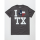WELL WORN I Heart Texas Mens T-Shirt