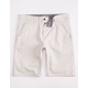 CHARLES AND A HALF Lincoln Stretch Stone Mens Shorts