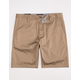 BLUE CROWN Slim Dark Khaki Mens Chino Shorts