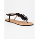 YOKI Pom T-Strap Womens Sandals
