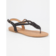 DOLLY MIX Woven T-Strap Womens Sandals