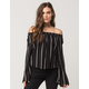 SOCIALITE Stripe Off The Shoulder Womens Top