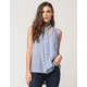 FREE PEOPLE Womens Tie Front Top