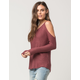 RAZZLE DAZZLE Cold Shoulder Womens Sweater