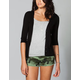 FULL TILT Essential Womens Elbow Sleeve Cardigan