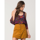 EYESHADOW Floral Cold Shoulder Womens Top